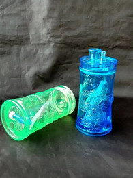Hookah transparent acrylic --glass hookah smoking pipe Glass gongs - oil rigs glass bongs glass hookah smoking pipe - vap- vaporizer