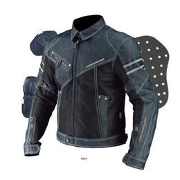Wholesale Komine Jk006 Net Denim Fabric Denim Coat Breathable Fabrics Motorcycle Clothing Racing Suit Automobile Race Clothing Dark Blue