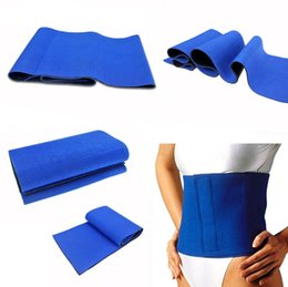 Wholesale 2016 Waist Trimmer Exercise Wrap Belt Slimming Burn Fat Sweat Weight Loss Body Shape