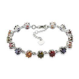 3 Pcs Noble 18K Gold Plated Bridal Bracelet colorful white purple Sparkling Cubic Zirconia Charm Bracelet for Women Jewelry Lover's Gift