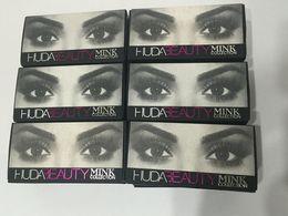 Wholesale Huda Beauty mink collection False Eyelashes Real hair Handmade Fake Eye Lashes Professional Makeup Tip Bigeye Long False Eye Lashes
