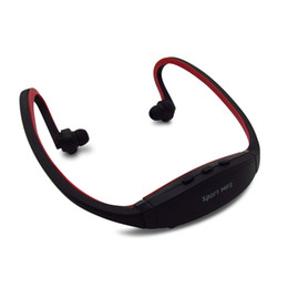 Wholesale Sports Mps Player - Hot Sell For 2016 Sport MP3 Player Radio FM Outdoor Head wearing MP 3 Players Sports Earphone Music Support Micro SD TF Card
