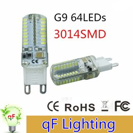 Wholesale Super Bright Led Spotlights - High power AC220V 110V SMD3014 G9 64LED 6W LED Corn Light Bulb Super bright 360 degree Replace 30W Halogen Lamp candle spotlight Lighting