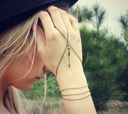 Romantic Slave Chain Bead Cupid Arrow Bracelets for Women Vintage Finger Wrist Accessories Bracelets Lots 12 Pcs