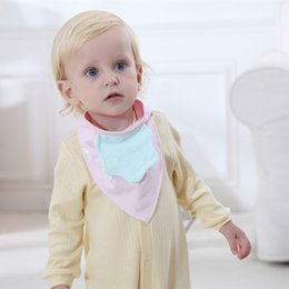 Wholesale maternal and child supplies baby cotton bibs with strawberry pattern layers and buttons to adjust neck