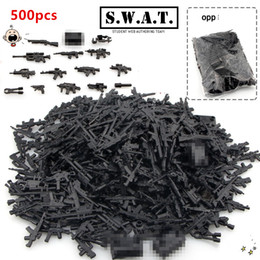 Wholesale Military Series Guns Weapons SWAT CITY Police Army Minifigures Assemble Building Blocks Kids Learning Toys Gifts