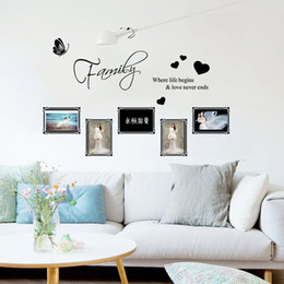 Family Love Photo Frame Wall Sticker Home Decoration Modern Mural Arts for Living Room DIY