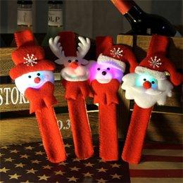 Wholesale Christmas Decoration Hallowmas High end Lighted Led Clap Bracelet Cloth Art Clap Circle Kid Brian Circle Children Shine Ball Bracelets