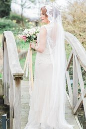 New Real Image Cut Edge Applique With Comb One Layer Lvory White Wedding Floor Veil Bridal Veils