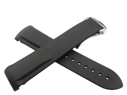 Regarder bracelet en caoutchouc noir en Ligne-20mm 22mm NOUVELLE GRANDE CATÉGORIE noir étanche de plongée en caoutchouc de silicone Bandes bandes bandes avec boucle d'argent pour Omega Watch