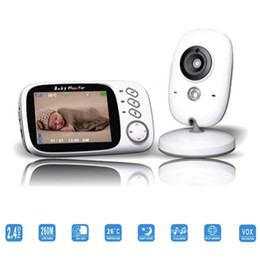 Wholesale New inch Color Wireless Baby Video Monitor Way Talk Night Vision IR LED Baby Camera Monitor with Lullabies