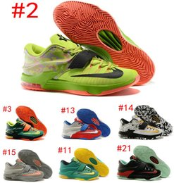 Newest Kevin Durant KD 7 Basketball Shoe KD7 Sports Shoe Athletic Running shoe Best price Quality With Standout Midsole Size US7-12 SZ:40-46