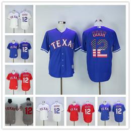 Wholesale Texas Rangers Rougned Odor Home Road Alternate Red White Navy Blue USA Flag Gray Cheap Men MLB Baseball Jerseys Outlets Store