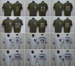 Wholesale MLB Yankees jerseys baseball Jerseys New York JETER RODRIGUEZ TANAKA ELLSBURY TEIXEIRA Salute To Service Cowboy Banner Wave