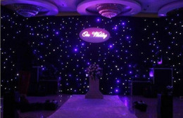 2016 New Fashion Blue - White Colors LED Star Curtain Wedding Backdrop Decoration Cloth With Controller Free Shipping
