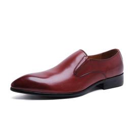Wholesale Men Allen Edmonds Ostendo Polo Brown Leather Dress Shoes