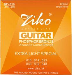 010-048 ZIKO Acoustic guitar strings musical instruments PHOSPHOR BRONZE Strings guitar parts wholesale