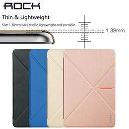 Mini-roches à vendre-Date élégant Rocher sommeil réveil Case PU Porte-étuis en cuir de Béquille Pour iPad Mini 4 de protection Housse Sac Porte-monnaie