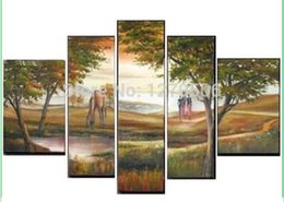 Wholesale 100 Handmade Large Canvas Wall Art Oil Painting On The Wall Landscape Picture Home Deocr Paintings Animated Animals