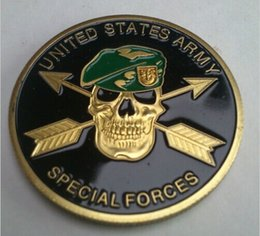 Wholesale united states army special forces green beret this we ll defend challenge coin