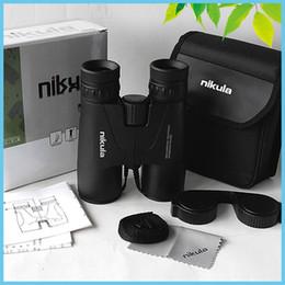 Nikula 8x42 en Línea-NIKULA 8x42 Prismáticos ED Observación de aves de caza impermeable Bak4 prueba de niebla telescopio binoculares