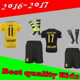 Wholesale Best quality kids home and away jerseys adult Coat pants socks REUS GUNDOGAN PULISC jersey