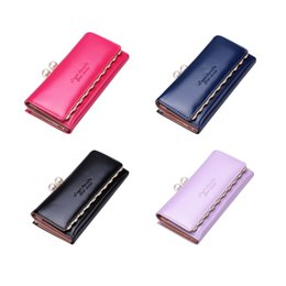 Wholesale New Arrival High Grade Fashion Women Wallets Clutch Bags Pu Leather Zipper Long Purse Bag Cards Holders Buy One Get One Free Christmas Gifts