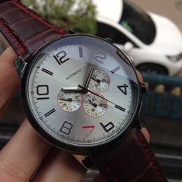 Venta al por mayor -Luxe de cuero marrón nuevo hombres de la fase de la luna hombres mecánicos automáticos de acero inoxidable Relojes de pulsera reloj de pulsera blanco desde esfera blanca para hombre de los relojes automáticos fabricantes