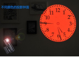 Wholesale new style LED projection clock reative home projection clock red green blue yellow bright lights with Roman Arabic number for home decor