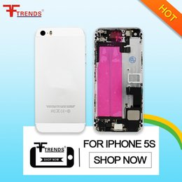 for iPhone 5S Back Cover Housing Battery Door Cover Replacement Assembly Repair Parts with Side Buttons Free Ship