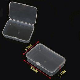 Wholesale 1x New Small Plastic Transparent With Lid Collection Container Case Cards Jewelry Storage Box