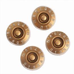 4 PCS cap electric guitar knob LP guitar sound volume knob knob potentiometer cap Straight body golden white