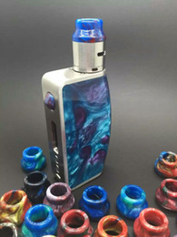 Wholesale Hot selling new coming top hat mod clone price in stock D box mod TC W with epoxy resin drip tip best factory
