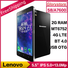 Wholesale Original Lenovo S8 A7600 G LTE Android Mobile Phone MTK6752m Octa Core Dual SIM inch HD G RAM G ROM MP OTG In Stock