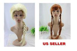 Princess Frozen Snow Queen Elsa Anna Cosplay Party Wigs Halloween Girls Gift
