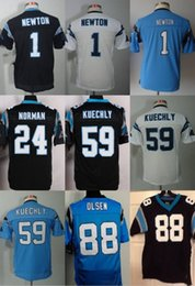 Wholesale 2016 Panthers Youth Greg Olsen Luke Kuechly Cam Newton Elite Kids Stitched Jerseys Number Black White Blue