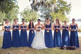 Sweetheart Strapless Long Blue Bridesmaid Dresses 2016 Evening Dress Junior Adult Bridesmaid Dresses