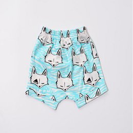 Blue Fox kids shorts,animal printed Baby shorts,new fashion cute baby boy shorts,summer kids clothes