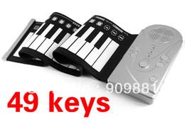 Piano del teclado suave 49 en Línea-Portátil 49 llaves rueda para arriba el teclado plegable flexible Electronic Piano envío mano suave música de órgano gratuito