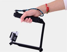 GoPro 3-way Monopod + Tripod + Grip Super Portable Magic Mount for xiaomi yi GoPro Hero4   3+   3  2 + SJ4000 Gopro Accessories
