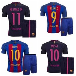 Wholesale thai quality barcelona jersey messi JERSEY suarez neymar jr SOCCER JERSEY SURVETEMENT FOOTBALL UNIFORMS SHIRTS sets
