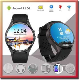 Wholesale Smart Watch KW88 MTK6580 GHz ROM4GB RAM512Mb Inch UHD AMOLED Android BT4 SIM WIFI GPS Music Google map G sensor