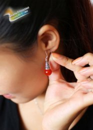 Wholesale china red earrings Onyx Tibetan silver earrings MEH6179 no MOQ hot sale jewelry new products absolute low price