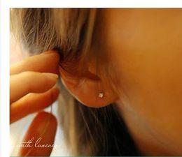 fashion Women'S girls' Fashion Jewelry Silver Plated ear stud Shine Rhinestone Crystal diamond shinning Stud Earrings