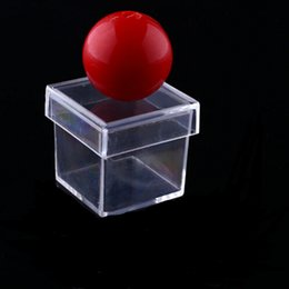 Wholesale 100pcs New Amazing Funny Clear Ball Through Box Illusion Magic Magician Trick Game Sell Hotting YH120