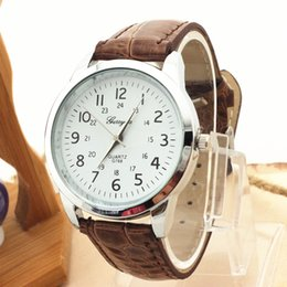 Hot selling!Free shipping!PVC leather band,silver plate round case,simple dial,quartz movement,gerryda fashion unisex young leather watch768
