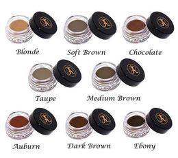 Wholesale HOT Ana DIPBRO Pomade Medium Brown Waterproof Makeup Eyebrow g Blonde Chocolate Dark Brown Ebony Auburn Medium Brown TALPE ePacket Free
