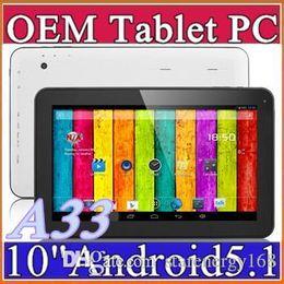 Wholesale DHL GB GB GHZ Quad Core Allwinner A33 android Lollipop dual camera inch quot tablet pc Bluetooth USB OTG NEW B PB