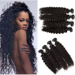 Promotion 24 profonds faisceaux de cheveux bouclés 100% brésilien Cheveux humains Weave 4 Bundle Cheap Brazilian Deep Curly Wave Virgin Hair G-EASY