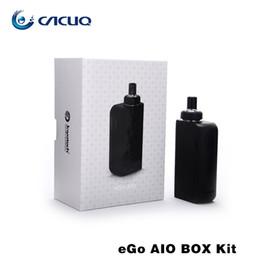 Electronic Cigarette Joyetech eGo AIO BOX Kit Joyetech eGo AIO BOX Vaporizer With BF SS316 0.6ohm Coil Ego AIO Box Kit